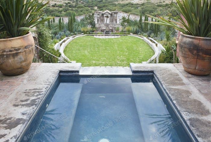 Decorative Pool at the Casa Luna Ranch
