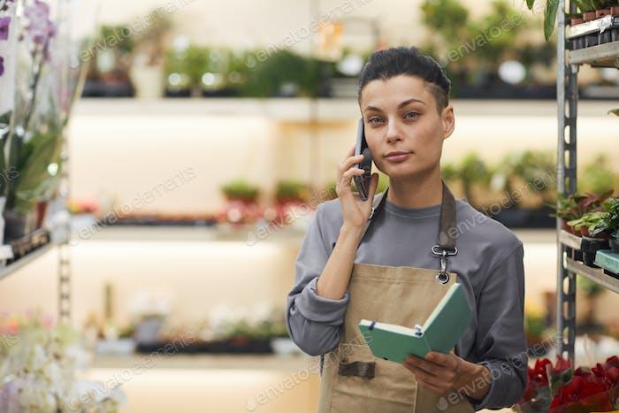 Successful Businesswoman in Flower Shop