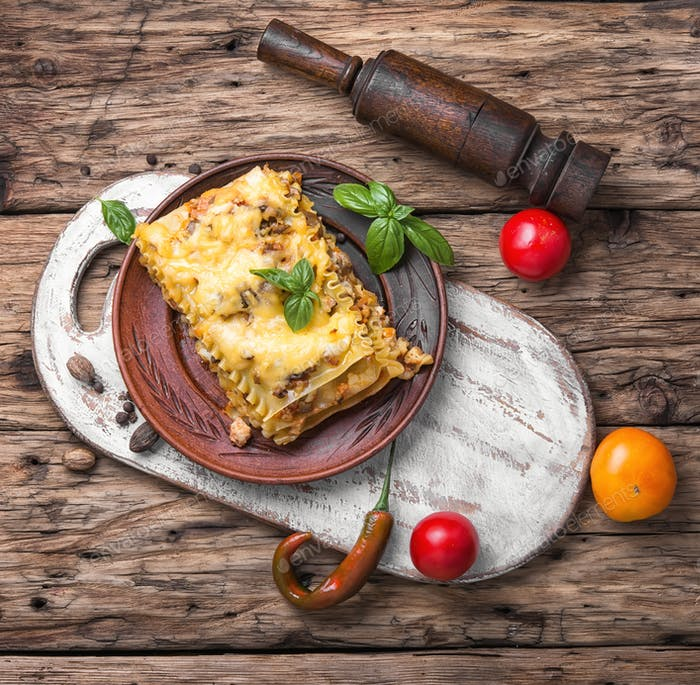 Italienische traditionelle Lasagne