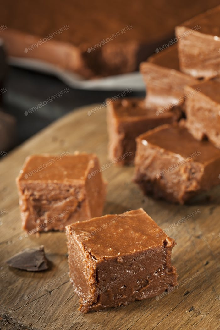 Homemade Dark Chocolate Fudge photo by bhofack2 on Envato Elements