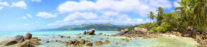 Thumbnail for Seychelles beach panorama