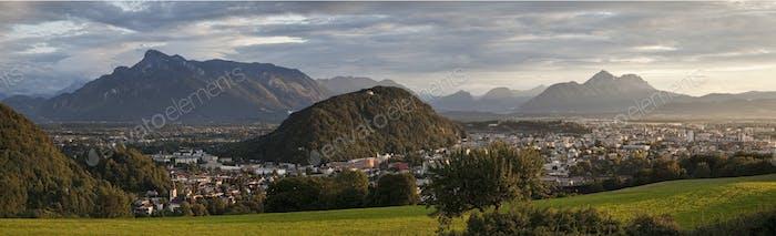 Salzburg, Austria, at Dusk
