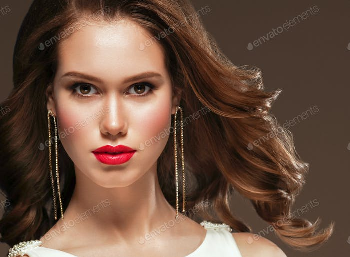 Beautiful woman portrait fashion style