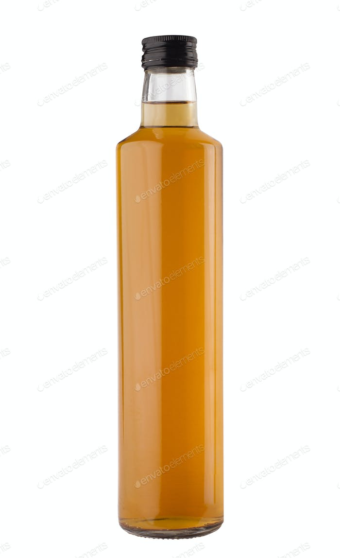 oil or vinegar bottle isolated on white background