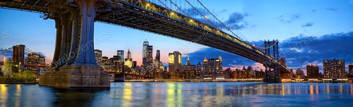 Panorama del Puente de Manhattan