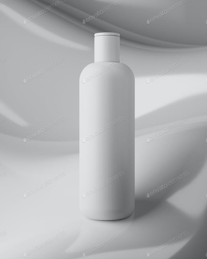 Design of natural cosmetic cream, serum, skincare blank bottle packaging. bio organic product