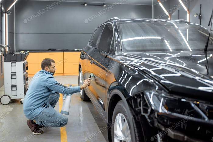 Preparing vehicle body before protective film apply