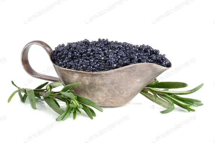 Sauceboat with caviar