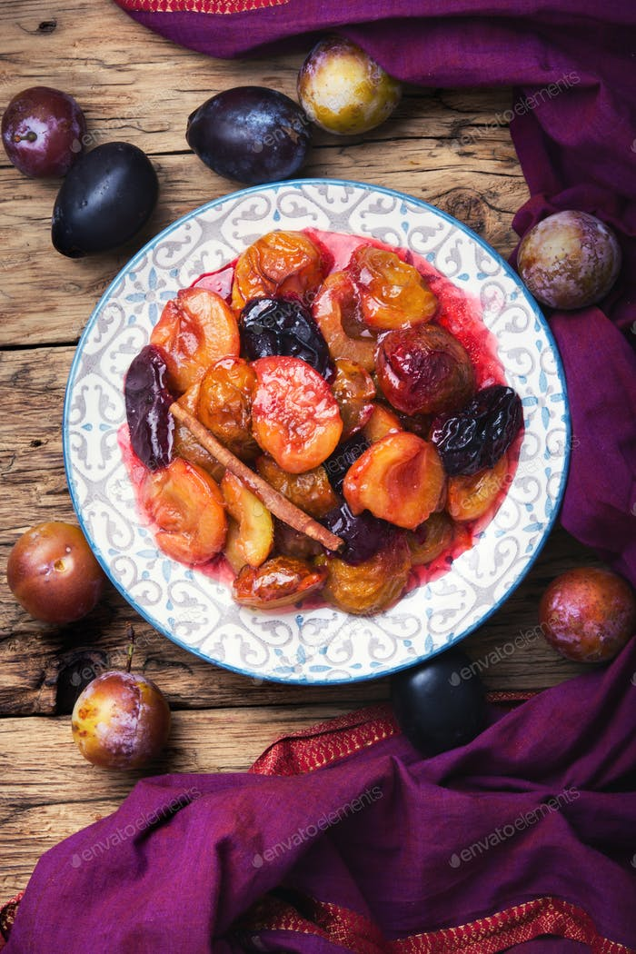 caramelized autumn plum