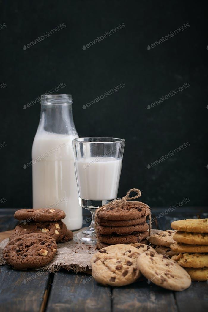 Home made chocolate drops cookies