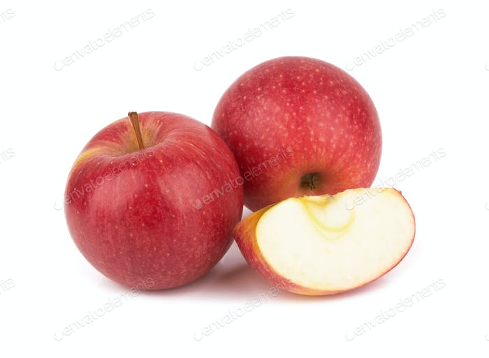 Red apples isolated