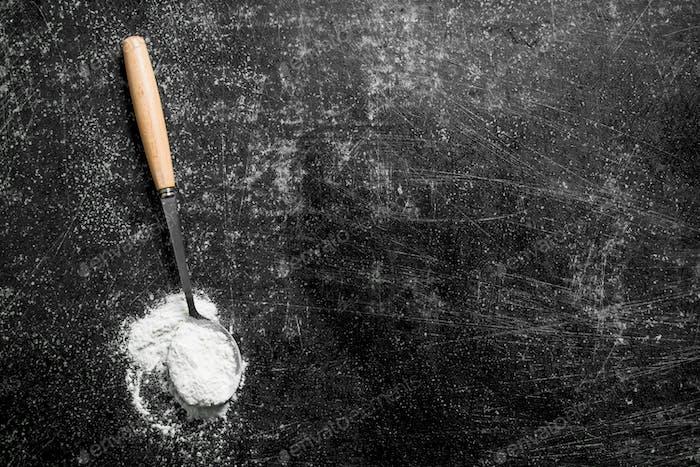 Ladle of flour.