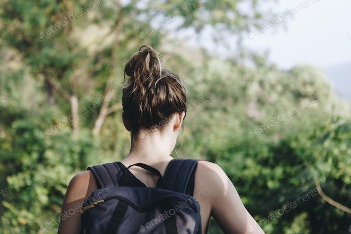 Woman enjoying the nature