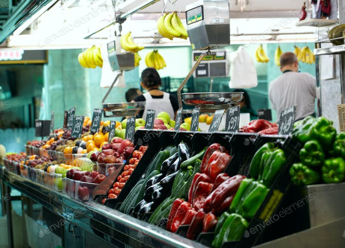 Fruits market La Boqueria in Barcelona