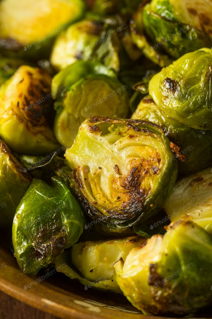 Homemade Roasted Green Brussel Sprouts