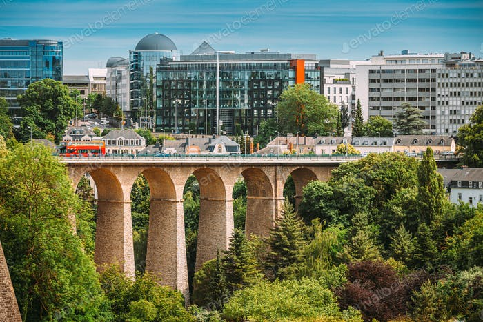 Luxembourg. Old Bridge - Passerelle Bridge Or Luxembourg Viaduct In Luxembourg