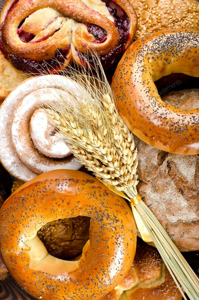 Assortment of bakery fresh breads