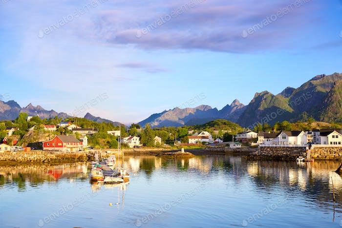 Fishing village in Lofoten islands
