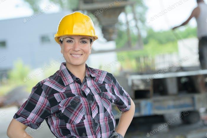 travailleuse de la construction