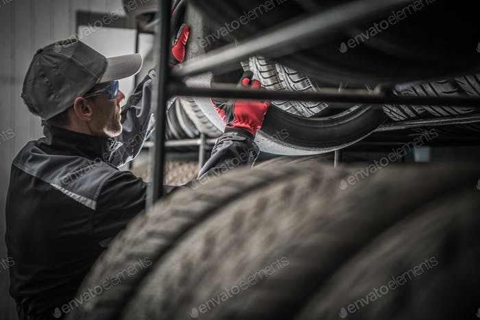 Tires Store Worker