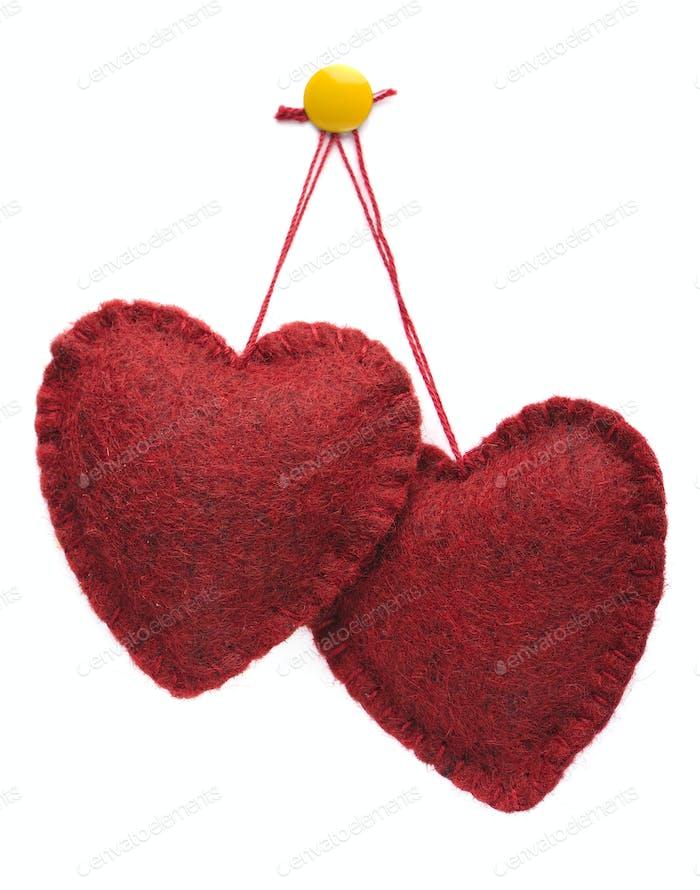 Zwei Herzen zusammen