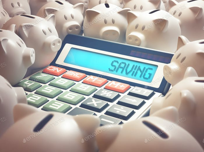 Piggy Bank Saving Calculator