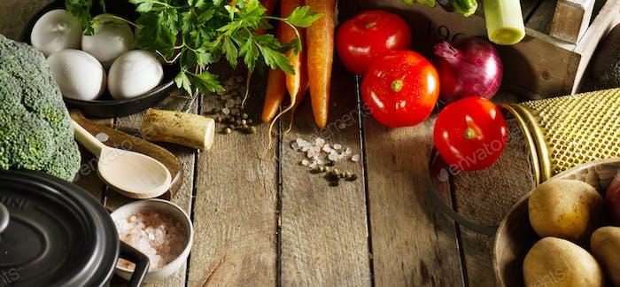 Food Vegetable Colorful Background. Tasty Fresh Vegetables on Wo