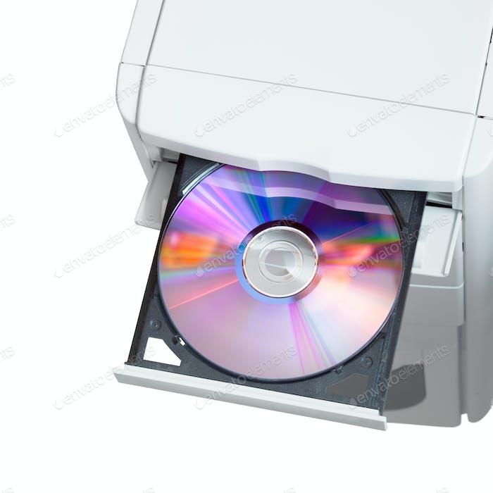 Dvd в открытом лотке