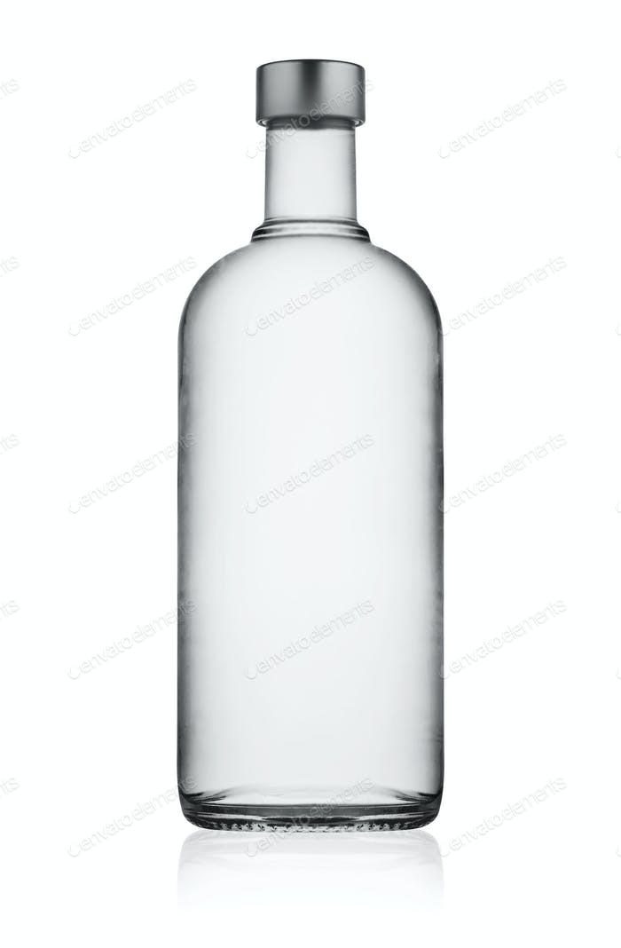 Full closed bottle of vodka