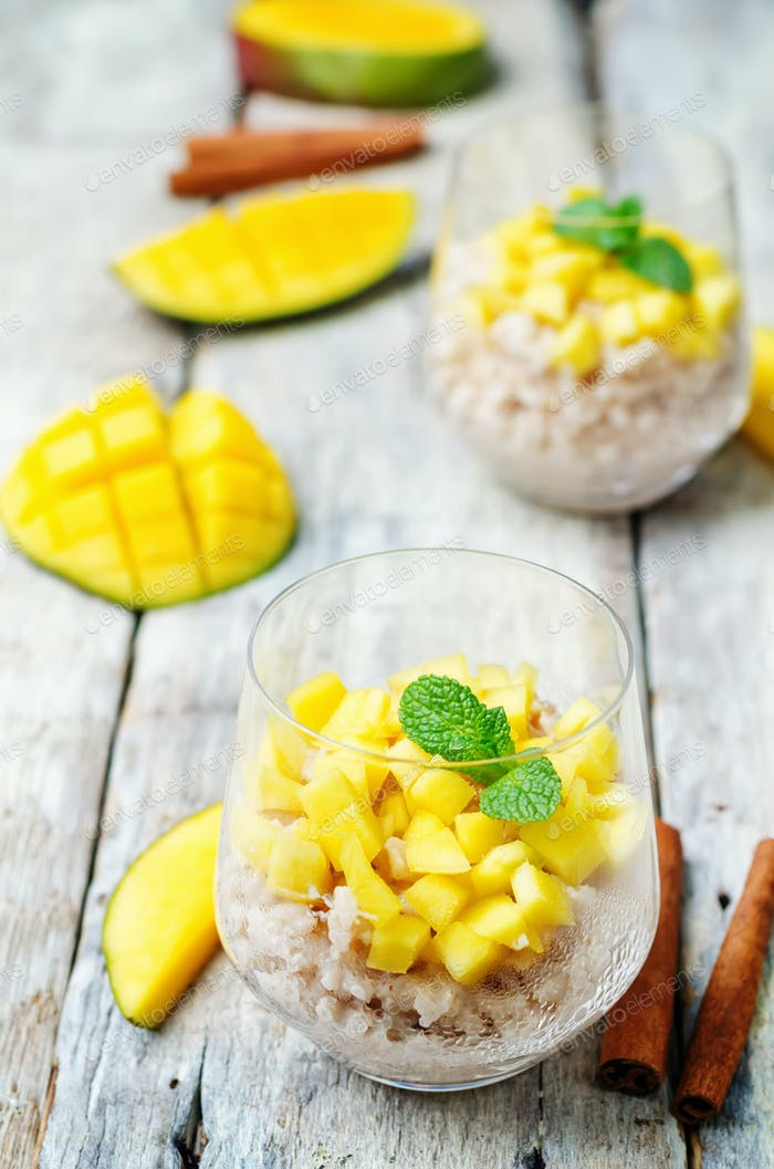 Mango Zimt Reispudding