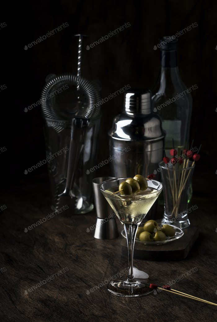 Classic Martini vodka cocktail