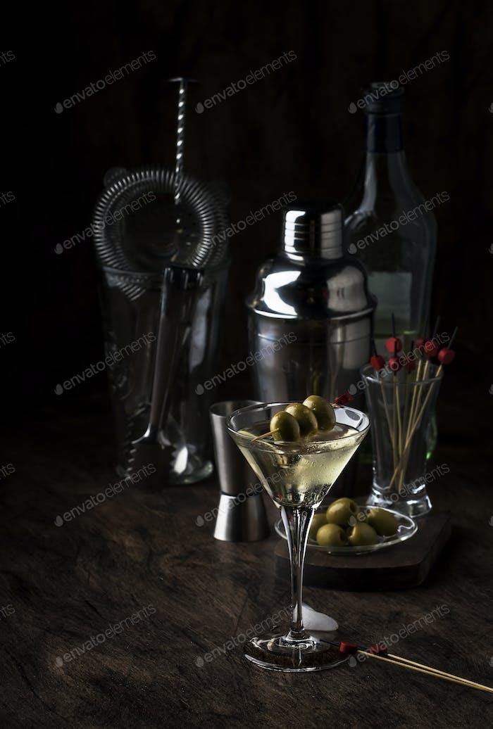 Klassischer Martini Wodka-Cocktail