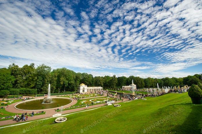 Peterhof Park in Saint Petersburg in Russia