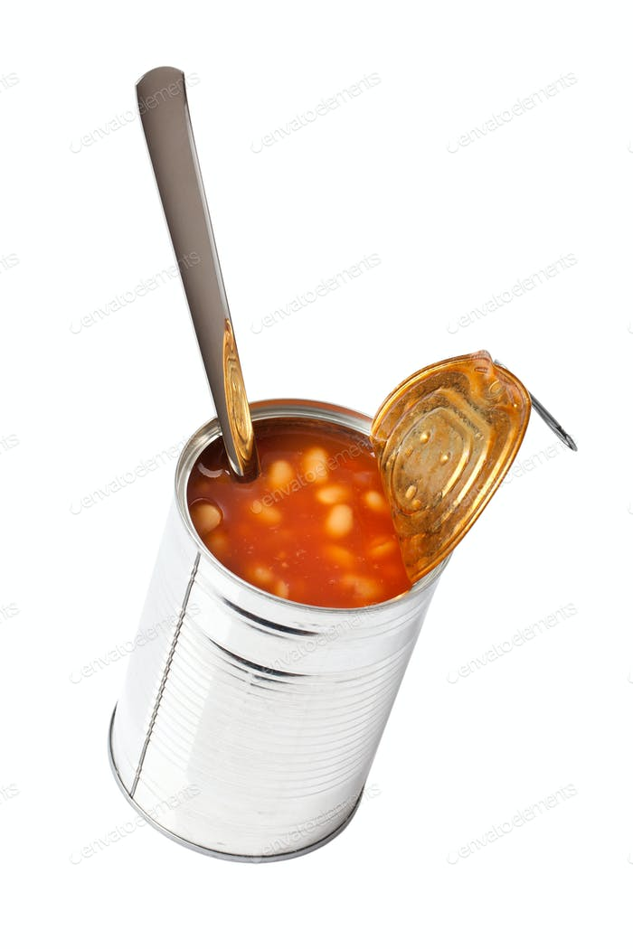 beans in tin can