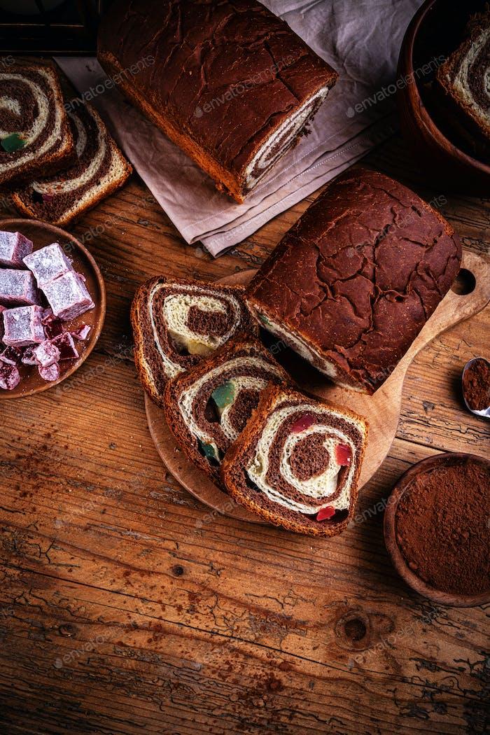 Swirl Brioche mit Kakao