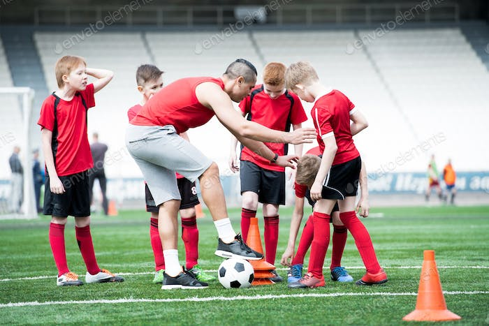 Football Exercises in Field