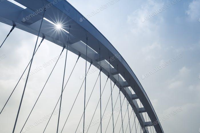 suspension bridge closeup