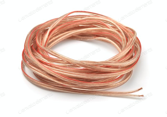 Hank of braided copper cable