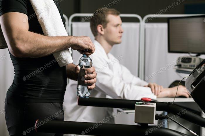 Sportsman in doctor's office
