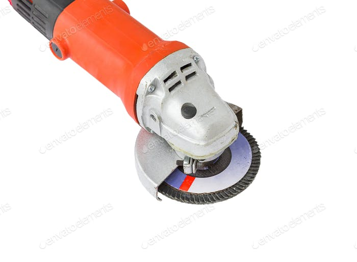 Power grinder on white background-2
