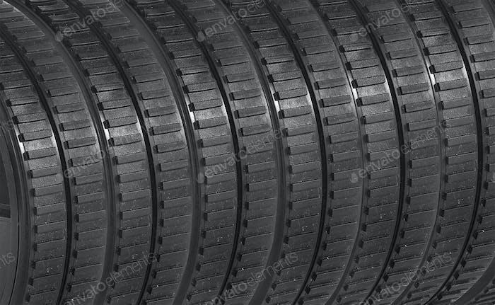 Gummi-Reifen Hintergrund