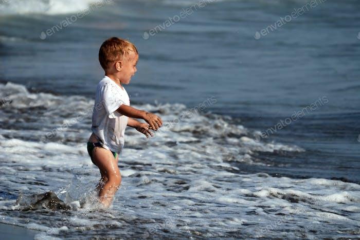 little boy at the beach