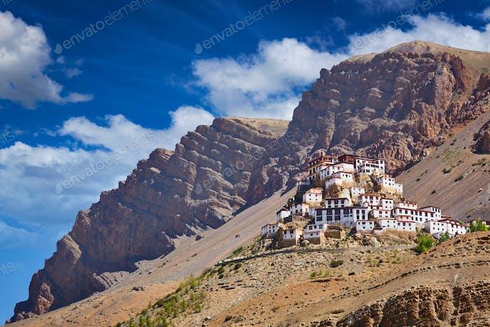 Ki gompa tibetan monastery. Spiti valley, Himachal Pradesh, Indi