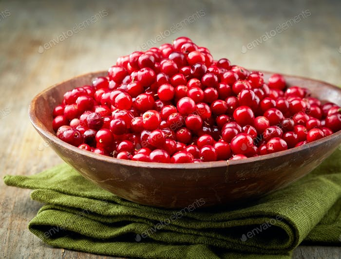 bowl of cowberries