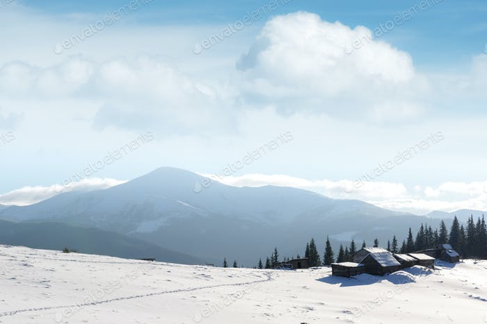 Thumbnail for Fantastic landscape with snowy house