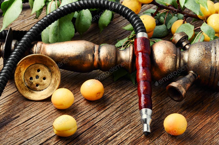 Eastern shisha with apricot