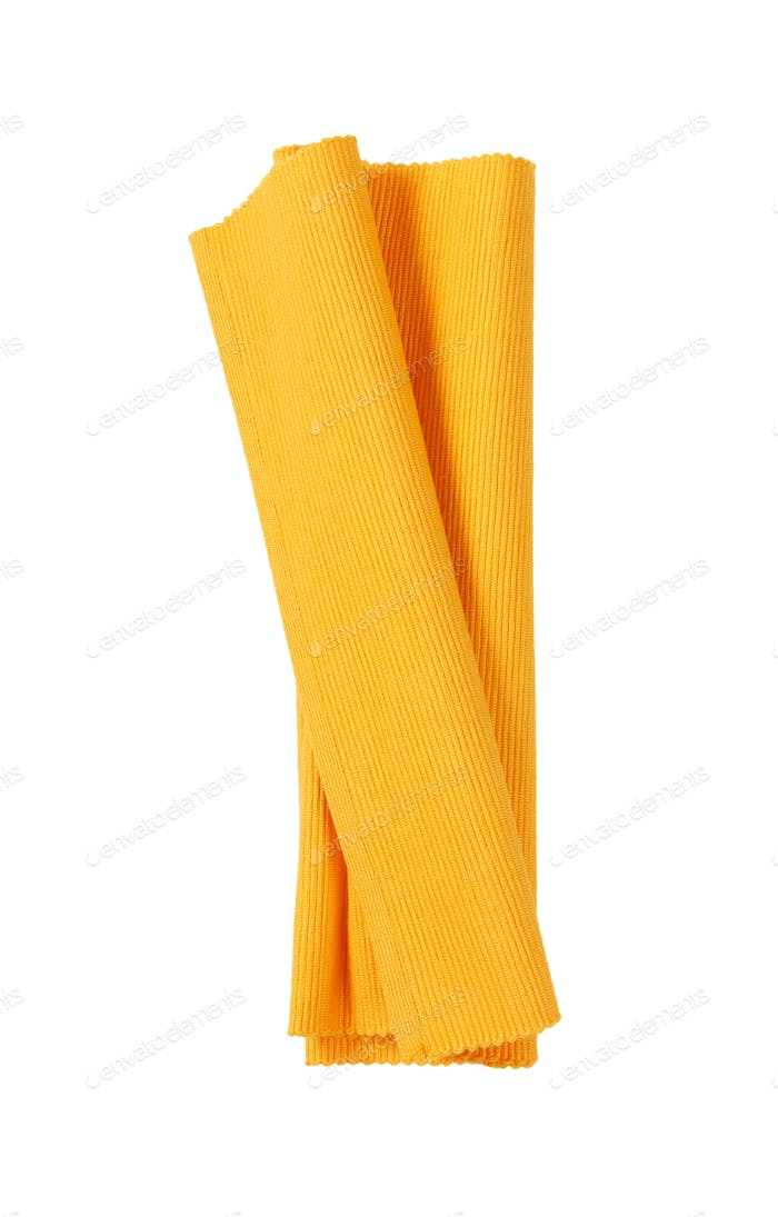 Orange ribbed cotton placemat