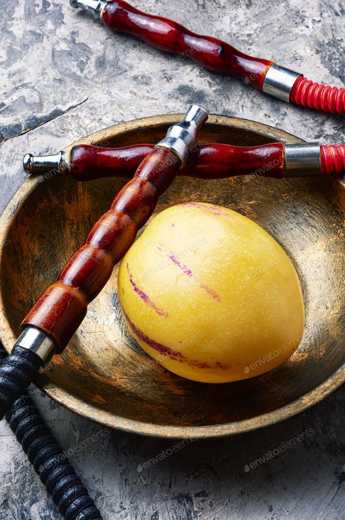 Turkish shisha with pepino tobacco