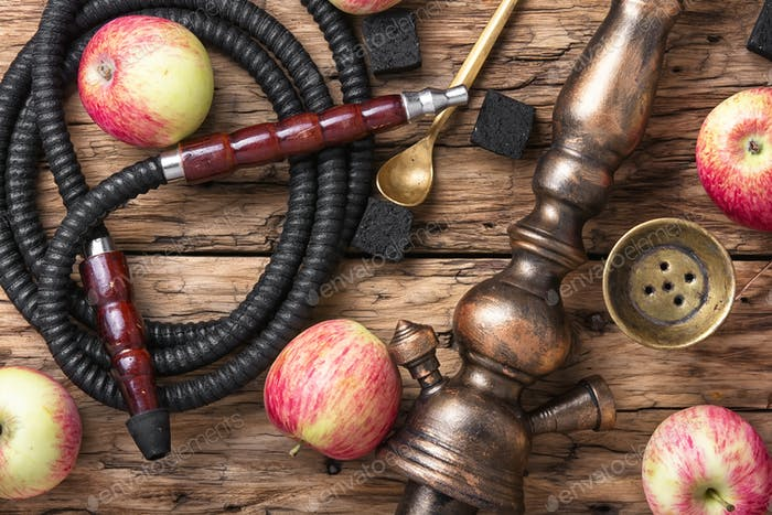 Tobacco hookah on apple tobacco