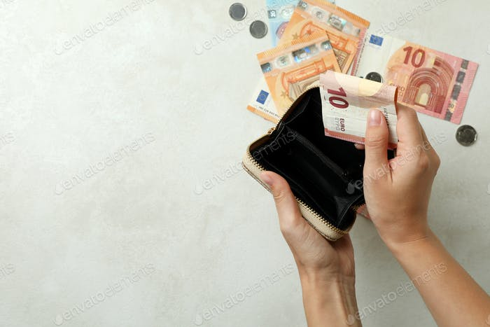 Concept of finance and economy with wallet